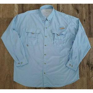 Columbia Mens PFG Omni Shade Blue Shirt Size XXL